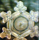 """Danke: In diesem Experiment wurde das Wort """"Danke"""" auf das Glas geklebt. Es entstand ein Kristall mit einer sehr schönen, gut ausbalancierten Form."""