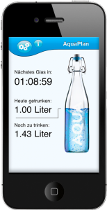Trink Wecker App, iTunes, App Store, Aquaplan, HellmeierDesign