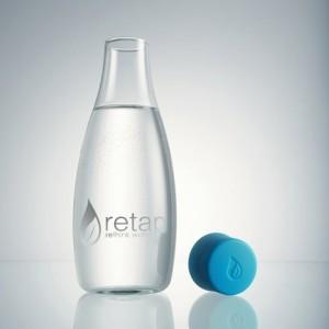 Retap-Glas-Wasserflasche-Leitungswasser